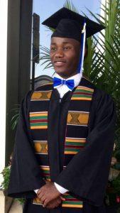 Wilson Kubwayo, college graduate
