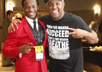 Posing with Dr. Eric Thomas aka. ET at NDPC conference in Detroit, MI